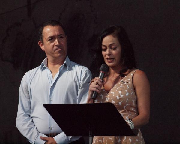 Producing Artistic Director Steven Glaudini and Toria Watson, the Executive Directorof Moonlight Cultural Foundation