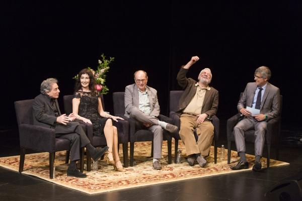 Chip Zien, Joanna Gleason, James Lapine, Stephen Sondheim, Mo Rocca