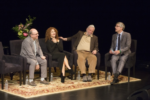 James Lapine, Bernadette Peters, Stephen Sondheim, Mo Rocca