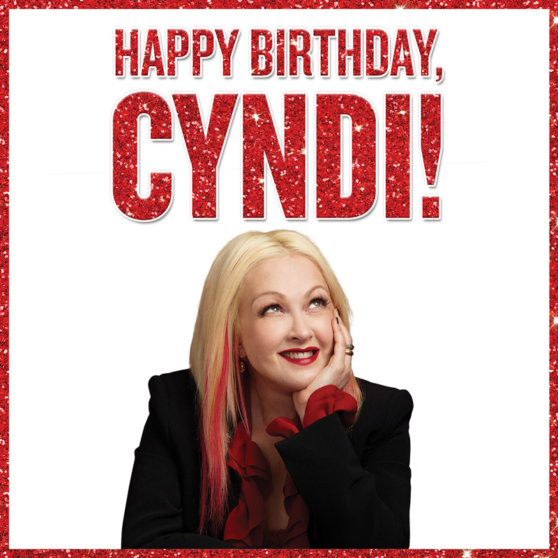 Kinky boots wishes cyndi lauper a happy birthday for Kinky boots cyndi lauper
