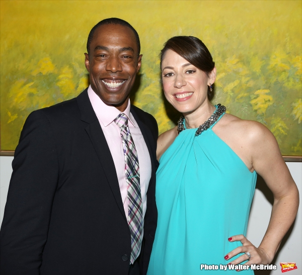 Michael McElroy and Jenny Neiderhoffer attend ''Parlor Night'' A benefit evening for The Broadway Inspirational Voices Outreach Program at the home of Roy and Jenny Neiderhoffer on June 22, 2015 in New York City.