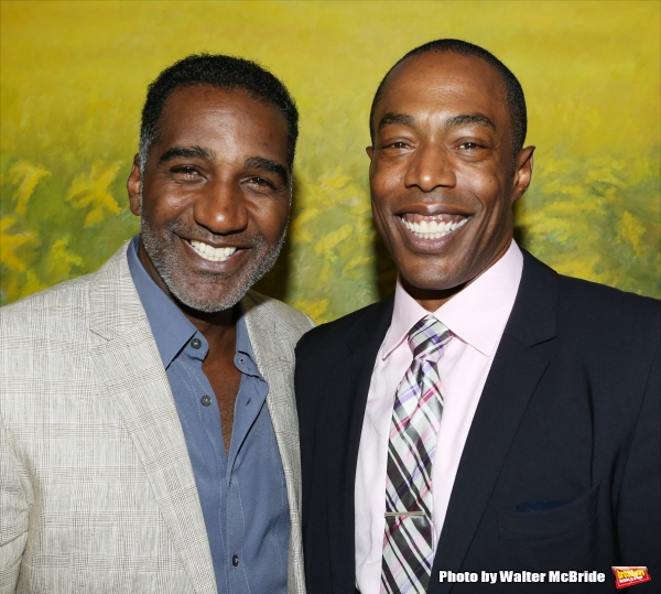 Norm Lewis and Michael McElroy attends ''Parlor Night'' A benefit evening for The Broadway Inspirational Voices Outreach Program at the home of Roy and Jenny Neiderhoffer on June 22, 2015 in New York City.