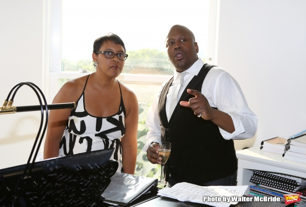 Schele Williams and Tituss Burgess attend ''Parlor Night'' A benefit evening for The Broadway Inspirational Voices Outreach Program at the home of Roy and Jenny Neiderhoffer on June 22, 2015 in New York City.