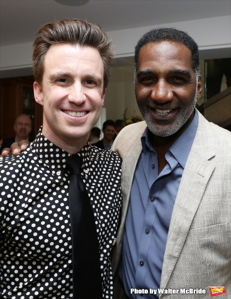 Gavin Creel and Norm Lewis attends ''Parlor Night'' A benefit evening for The Broadway Inspirational Voices Outreach Program at the home of Roy and Jenny Neiderhoffer on June 22, 2015 in New York City.