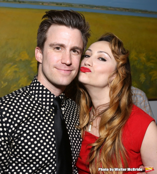 Gavin Creel and Eden Espinosa attend ''Parlor Night'' A benefit evening for The Broadway Inspirational Voices Outreach Program at the home of Roy and Jenny Neiderhoffer on June 22, 2015 in New York City.