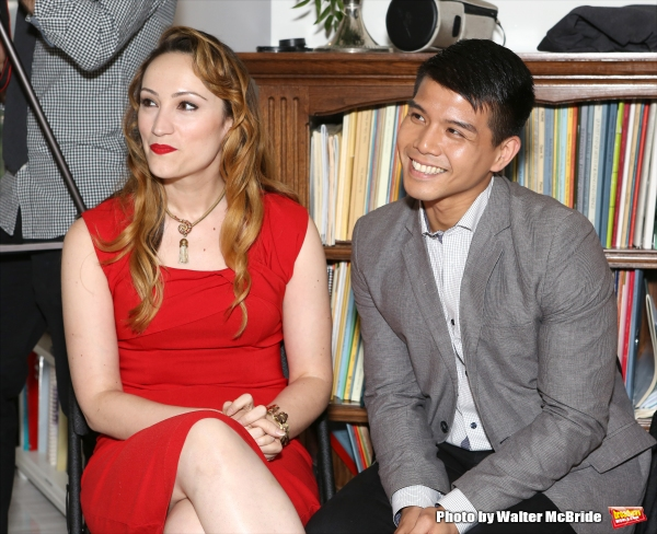 Eden Espinosa and Telly Leung