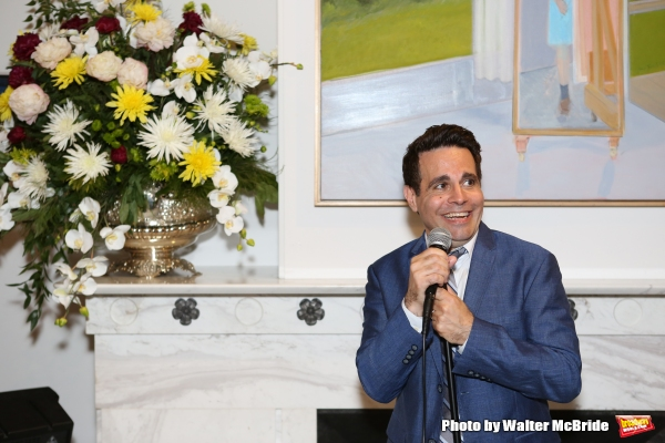 Mario Cantone performs at ''Parlor Night'' A benefit evening for The Broadway Inspirational Voices Outreach Program at the home of Roy and Jenny Neiderhoffer on June 22, 2015 in New York City.