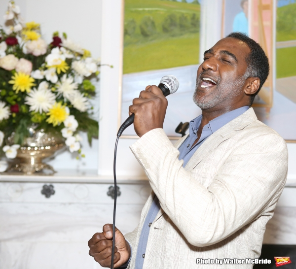 Norm Lewis performs at ''Parlor Night'' A benefit evening for The Broadway Inspirational Voices Outreach Program at the home of Roy and Jenny Neiderhoffer on June 22, 2015 in New York City.