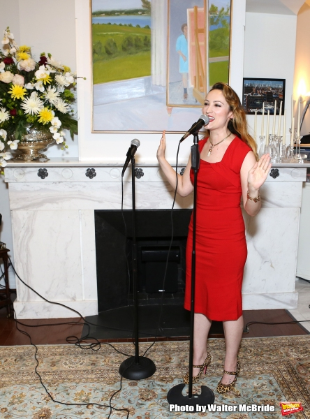 Eden Espinosa performs at ''Parlor Night'' A benefit evening for The Broadway Inspirational Voices Outreach Program at the home of Roy and Jenny Neiderhoffer on June 22, 2015 in New York City.