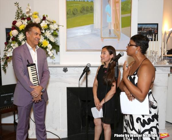 Brian Stokes Mitchell, Di Ana Pisarri and Schele Williams attend ''Parlor Night'' A b Photo