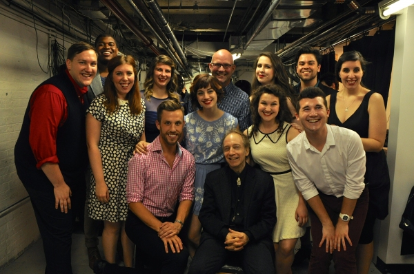 Scott Siegel and Scott Coulter with The Broadway By The Years Chorus-Ally Bonino, Elijah Caldwell, Kristin Dausch, Madeline Hamlet, Mary Lane Haskell, Emily Iaquinta, Ricky Alan Saunders, Ryan Scoble, Hannah Solow, Justin Talkington and Matt Weinstein