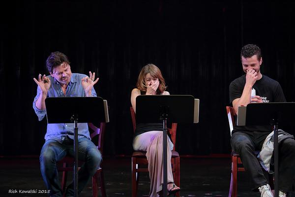 More giggles. Hunter Foster is to blame, just ask Kate Wetherhead & Justin Guarini.