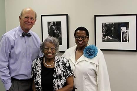 Vice President for College Advancement Ed Gwazda, Lou Draper''s daughter, Nell Draper Photo