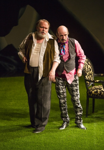 Tom McGowan as Sir Toby Belch and Patrick Kerr as Andrew Aguecheek