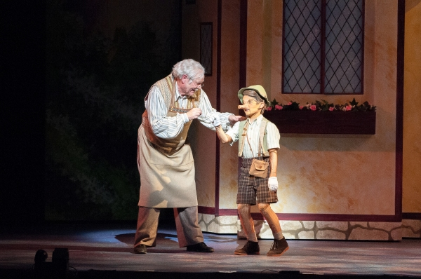 Nicholas F. Saverine as Geppetto and Topher Cundith as Pinocchio
