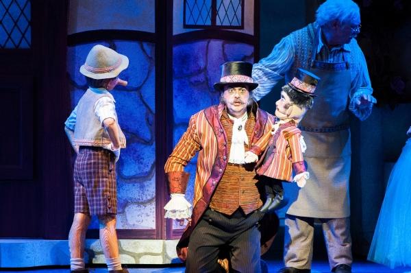 Topher Cundith as Pinocchio and Shaun-Michael Morse as Stromboli
