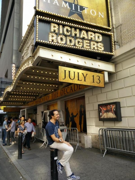 Photo Flash: HAMILTON Cast Assembles on Richard Rodgers Stage For First Time