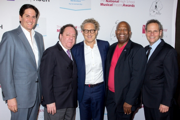 Nick Scandalios, James L. Nederlander, Bernie Telsey, Kent Gash, Van Kaplan Photo