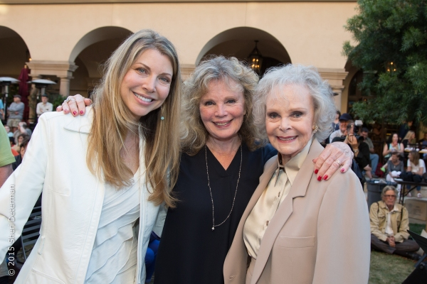 Toni Williams and June's TV daughter, Marta Kristen (Lost In Space) with June Lockhart.
