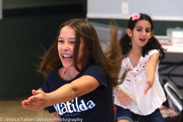 MATILDA''s Bailey Ryon teaching the dance combo to ''Naughty'' at A Class Act NY''s MATILDA Workshop.