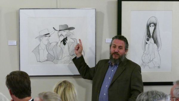 David Leopold, creative ' of The Al Hirschfeld Foundation and author of ''The Hirschfeld Century:  Portrait of an Artist and His Age,'' comments on Hirschfeld''s original works on loan from private collections for the one-night-only event.