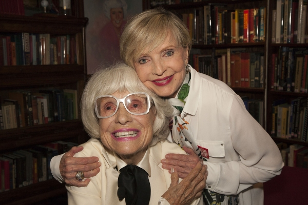 Carol Channing with dear friend, Florence Henderson