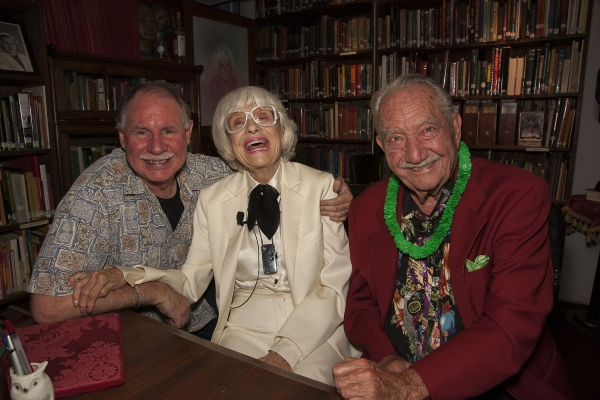 Event producer, Dale Hindman, Carol Channing and Magic Castle Founder, Milt Larsen