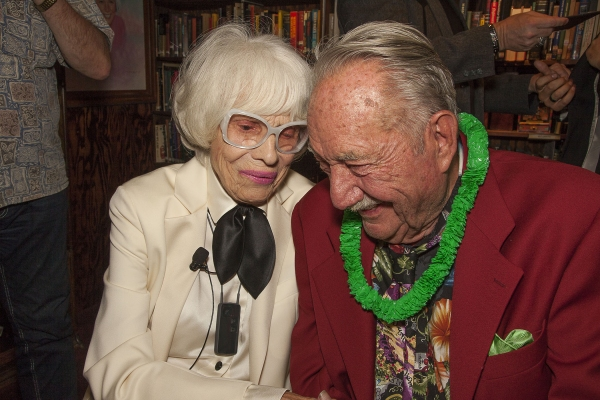 Carol Channing and Magic Castle Founder, Milt Larsen, share a magical moment.