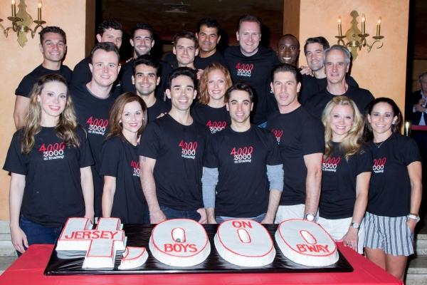 Photo Coverage: JERSEY BOYS Celebrates 4000 Performances on Broadway!