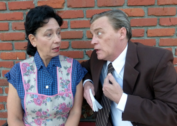 Kate (Lori Kaye) and Jack )Harold Dershimer) struggle to keep the Jerome family afloat during the Depression.