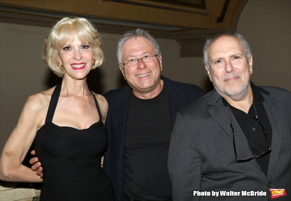 Ellen Greene, Alan Menken and Lee Wilkof