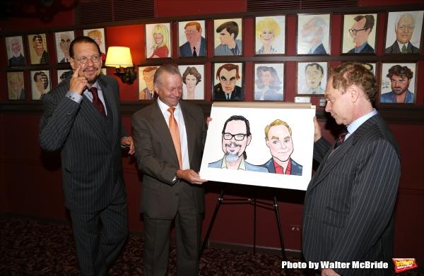 Max Klimavicius with Penn Jillette and Teller