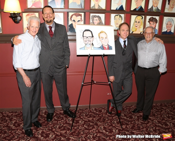 Producer Steve Baruch, Penn Jillette, Teller and producer Tom Viertel