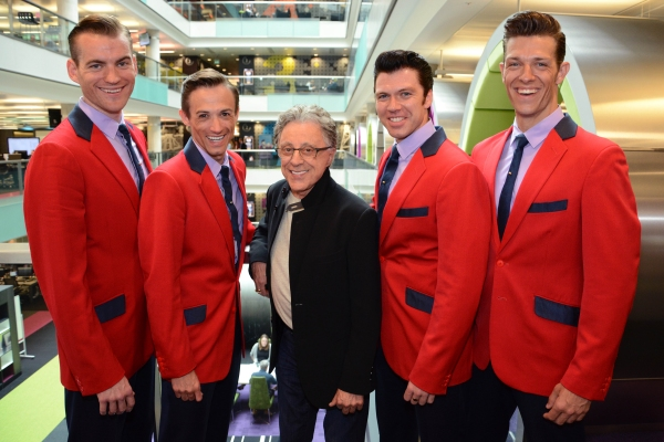 Photo Flash: Frankie Valli Meets West End, UK Touring Casts of JERSEY BOYS