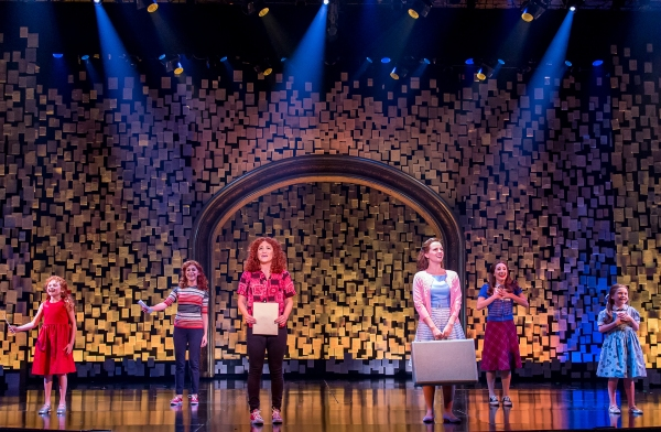 Presley Ryan (Little Cee Cee), Samantha Pauly (Teen Cee Cee), Shoshana Bean (Cee Cee Bloom), Whitney Bashor (Bertie White), Olivia Renteria (Teen Bertie) and Brooklyn Shuck (Little Bertie)