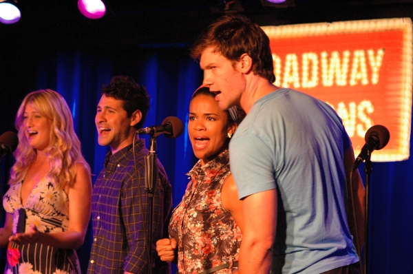 Megan Lewis, Dylan S. Wallach, Britney Coleman and Jarid Faubel performing ''The Ballad of Pope''