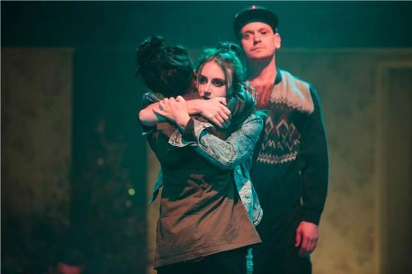 Laura Elsworthy (Josie), Andrew Sheridan (Black Dog), Juma Sharkah (Lily) Photo
