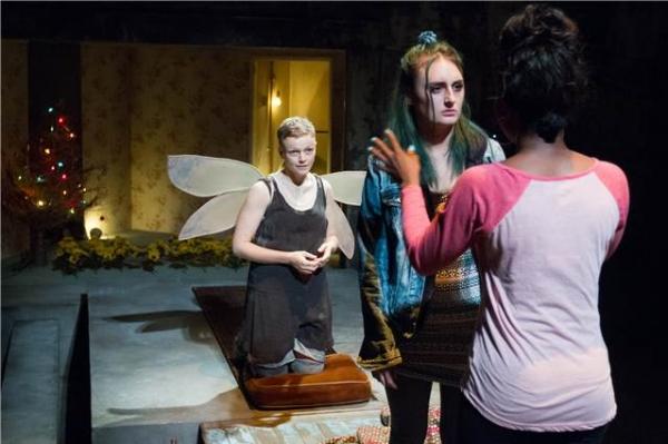 Maxine Peake (The Skriker), Laura Elsworthy (Josie), Juma Sharkah (Lily)