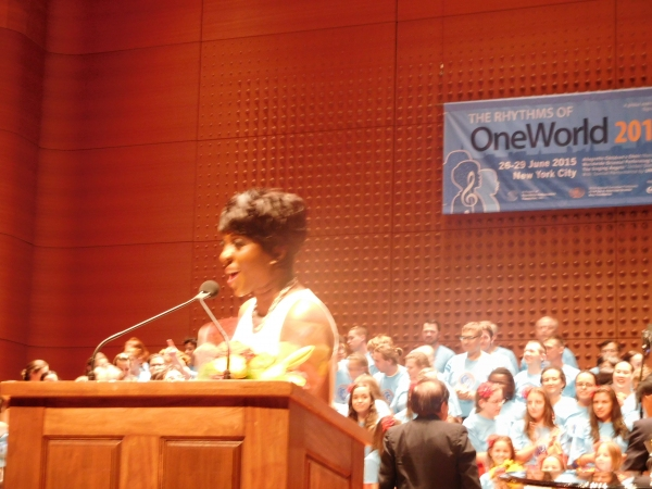 Mistress of Ceremonies Cheryl Wills, Anchor and Senior Reporter for New York One News Photo