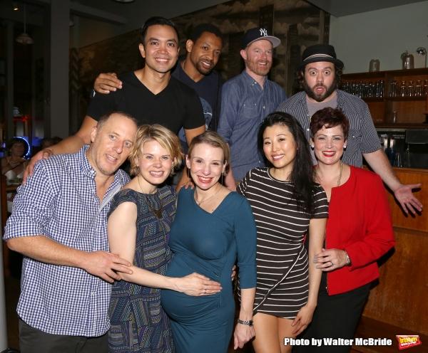 Cast members (Back, L-R) Jose Llana, Derrick Baskin, Jesse Tyler Ferguson and Dan Fog Photo