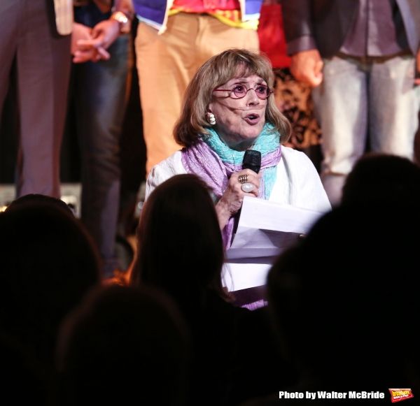 Phyllis Newman during the Curtain Call for the One Night Only 10th Anniversary Concert of ''The 25th Annual Putnam County Spelling Bee'' at Town Hall on July 6, 2015 in New York City.