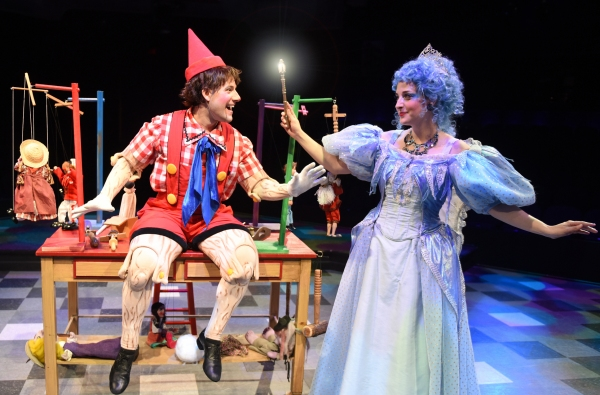 Andrew Spatafora as Pinocchio and Dara Cameron as the Blue Fairy Photo