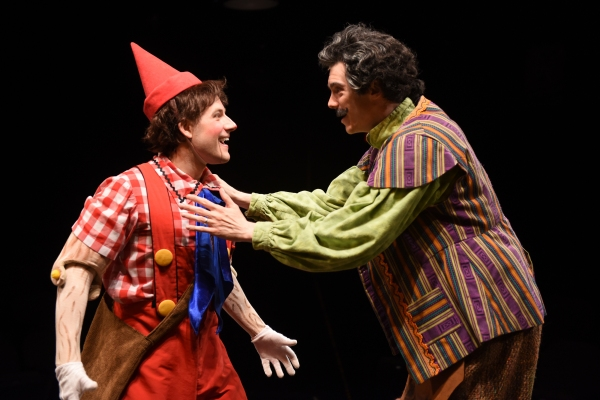 Andrew Spatafora as Pinocchio and Jarrod Zimmerman as Geppetto Photo