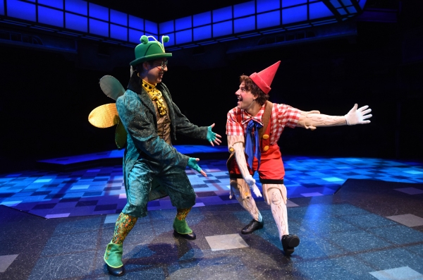 George Keating as Hopper and Andrew Spatafora as Pinocchio