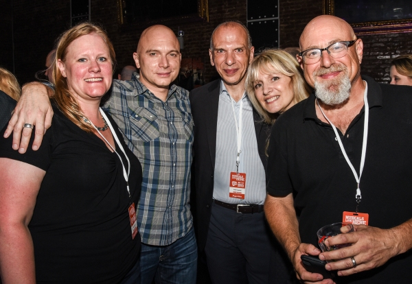 Michael Cerveris with NYMF board members Krista Parsons, Frank Troutman, Jill Jaysen and Board President Charlie Fink at the NYMF opening party.