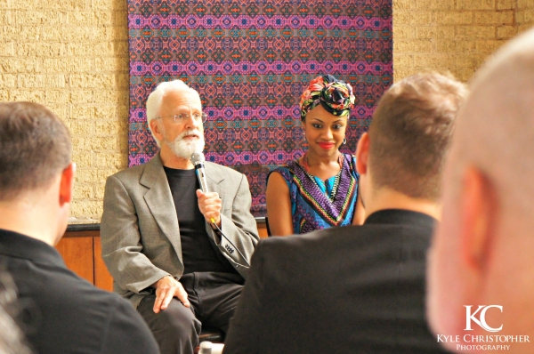 John Rubinstein and Sasha Allen speak with the Dallas press.