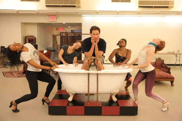 Photo Flash: Sutton Foster, Steven Pasquale, Miriam Shor & More in Rehearsal for Encores! Off-Center's THE WILD PARTY