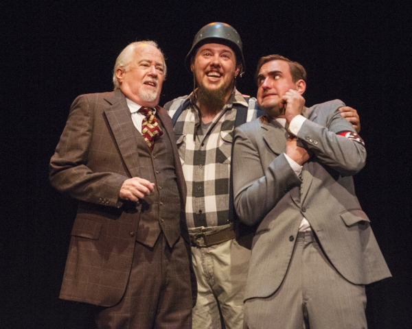 Robert Rossman (as Max Bialystock), Jay Barker (as Franz Liebkind) and Danny McCammon (as Leo Bloom) sing ''Der Guten Tag Hop-Clop''
