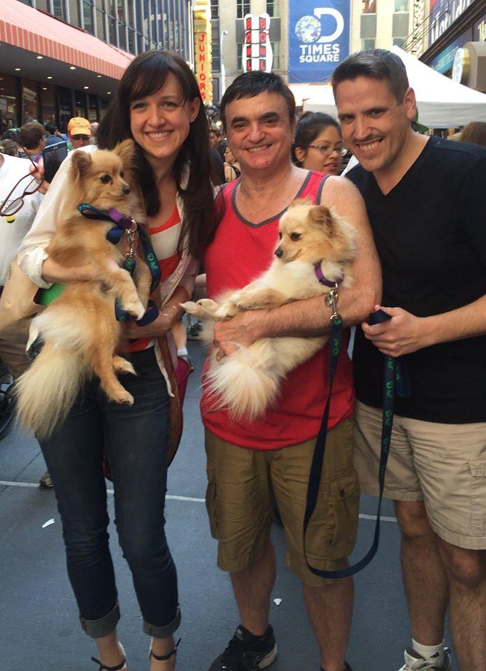 Photo Flash: Lena Hall & Lawrence Leritz Adopt Sisters at Broadway Barks