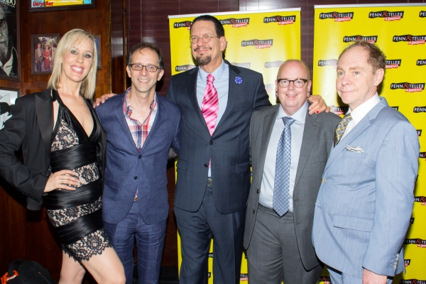 Georgie Bernasek, John Rando, Penn Jillette, Mike Jones, Teller